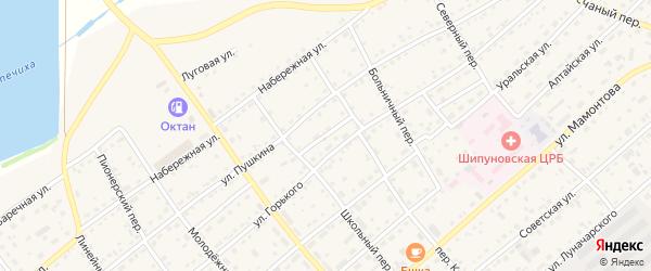 Светлый проезд на карте села Шипуново с номерами домов