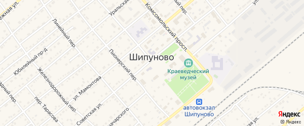 Звездная улица на карте села Шипуново с номерами домов