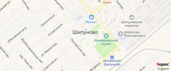 Краснояровский переулок на карте села Шипуново с номерами домов