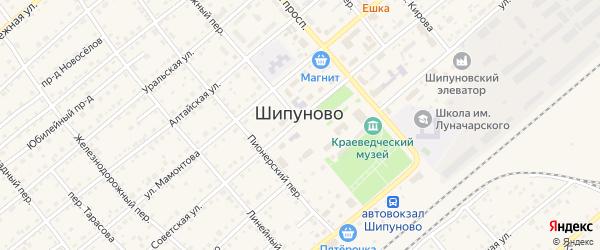 Проезд Путейцев на карте села Шипуново с номерами домов