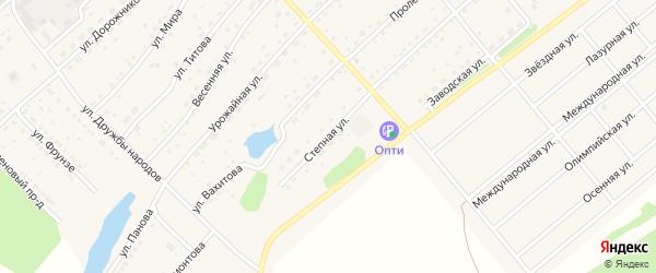 Степная улица на карте села Шипуново(Российского с/с) с номерами домов