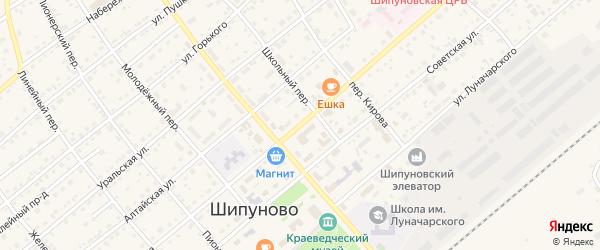 Улица Мамонтова на карте села Шипуново с номерами домов