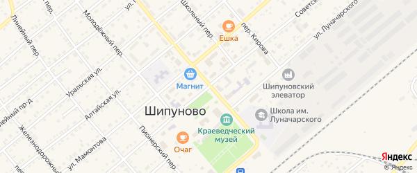 Советская улица на карте села Шипуново с номерами домов