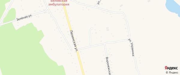 Строительный переулок на карте села Белово с номерами домов