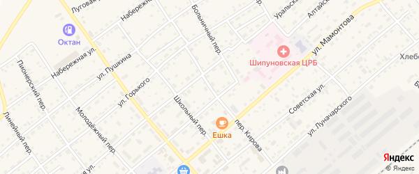 Переулок Кирова на карте села Шипуново с номерами домов