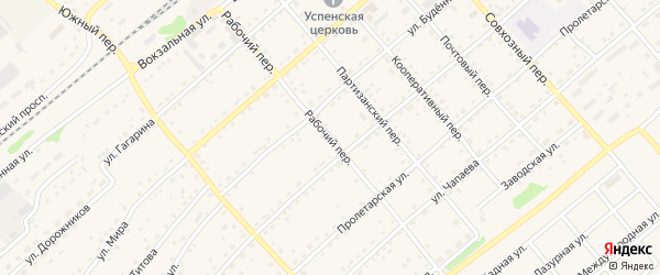 Рабочий переулок на карте села Шипуново с номерами домов