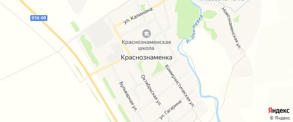 Карта Краснознаменского поселка в Алтайском крае с улицами и номерами домов