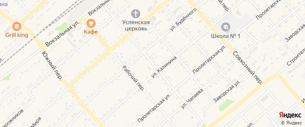 Партизанский переулок на карте села Шипуново с номерами домов