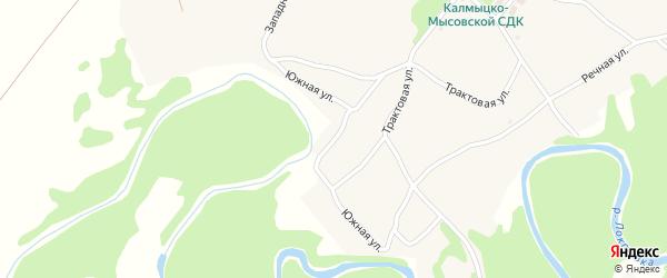 Южная улица на карте села Калмыцкие Мысы с номерами домов