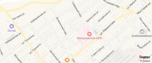 Тимуровский проезд на карте села Шипуново с номерами домов