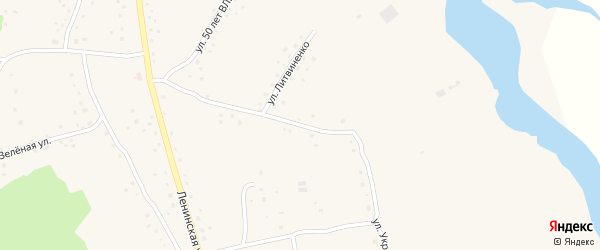 Улица Украинка на карте села Белово с номерами домов