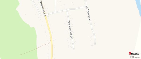 Воронежская улица на карте села Белово с номерами домов