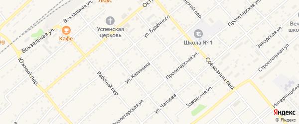 Кооперативный переулок на карте села Шипуново с номерами домов