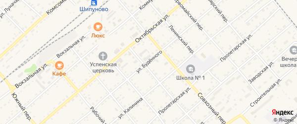 Улица Буденного на карте села Шипуново с номерами домов