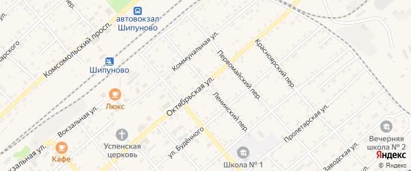 Ленинский переулок на карте села Шипуново с номерами домов