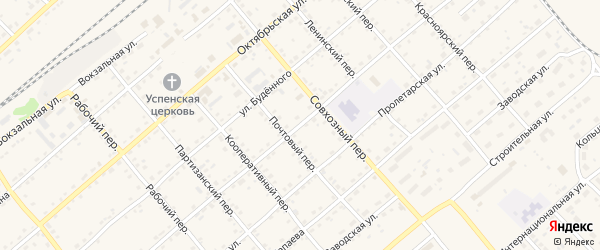 Улица Калинина на карте села Шипуново с номерами домов