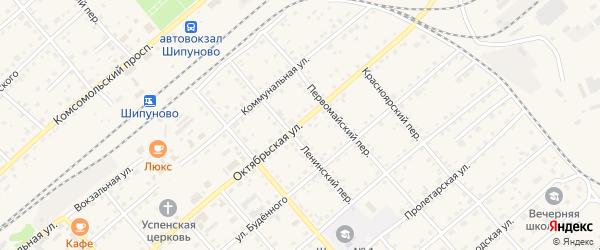 Октябрьская улица на карте села Шипуново с номерами домов