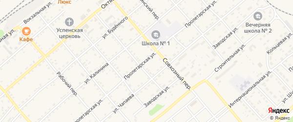 Пролетарская улица на карте села Шипуново с номерами домов