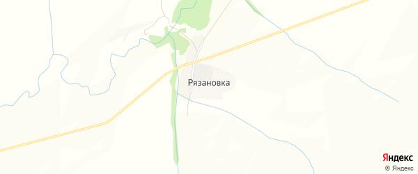 Карта поселка Рязановки в Алтайском крае с улицами и номерами домов