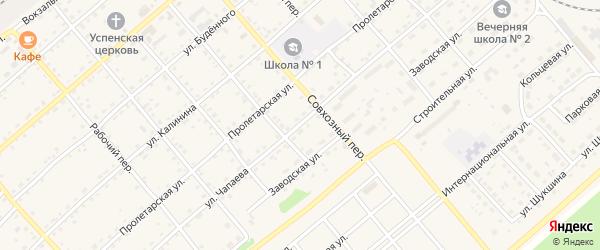 Улица Чапаева на карте села Шипуново с номерами домов