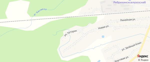 Улица Хуторок на карте станции Ребрихи с номерами домов