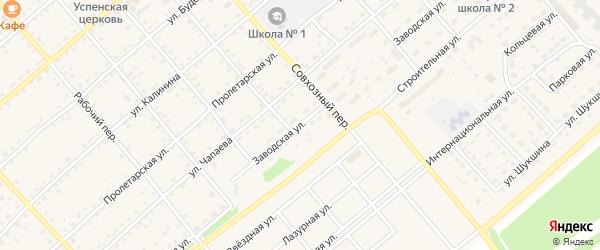 Заводская улица на карте села Шипуново с номерами домов