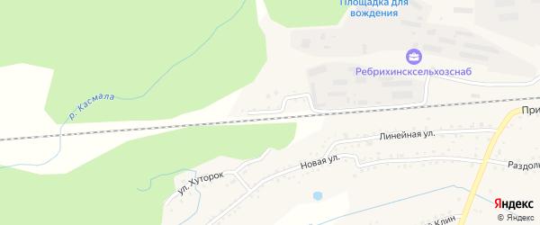 Деповская улица на карте станции Ребрихи с номерами домов