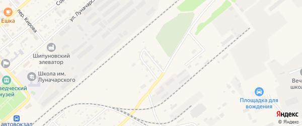 Космическая улица на карте села Шипуново с номерами домов
