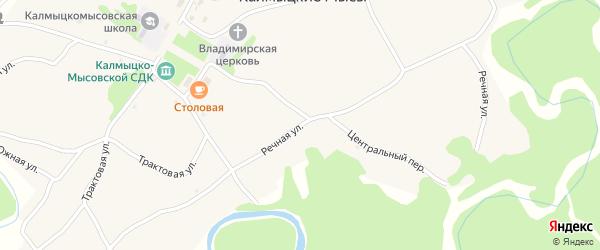 Речная улица на карте села Калмыцкие Мысы с номерами домов