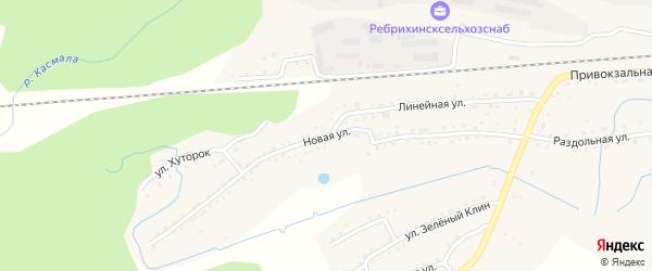 Новая улица на карте станции Ребрихи с номерами домов