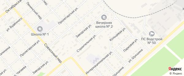 Строительная улица на карте села Шипуново с номерами домов