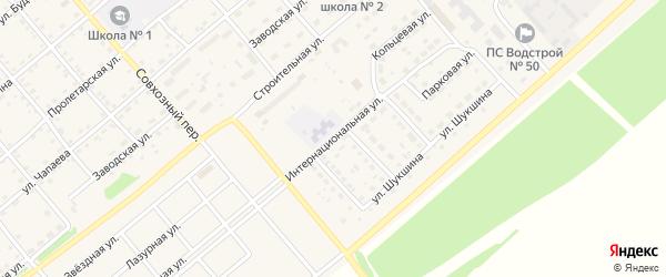 Интернациональная улица на карте села Шипуново с номерами домов