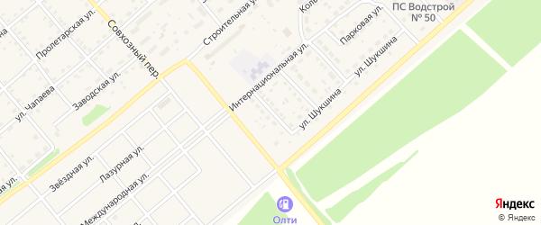 Улица М.Цветаевой на карте села Шипуново с номерами домов