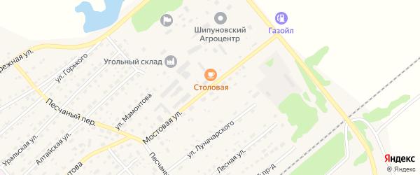 Мостовая улица на карте села Шипуново с номерами домов