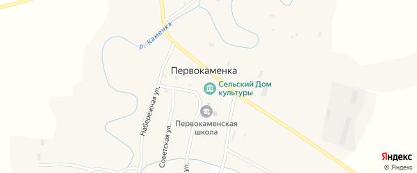 Береговая улица на карте села Первокаменки с номерами домов