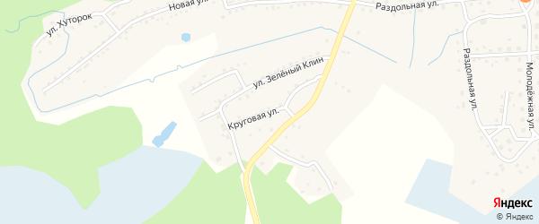 Круговая улица на карте станции Ребрихи с номерами домов