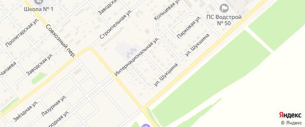 Алейский переулок на карте села Шипуново с номерами домов
