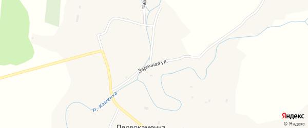 Заречная улица на карте села Первокаменки с номерами домов