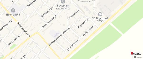 Кольцевая улица на карте села Шипуново с номерами домов