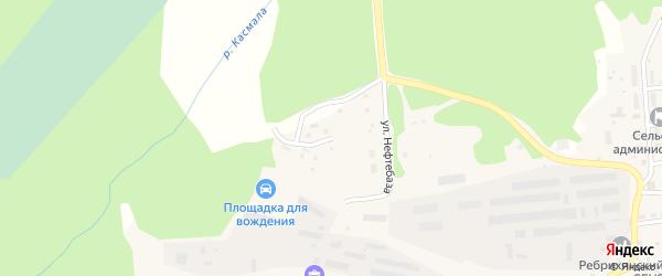 Улица Нефтебаза на карте станции Ребрихи с номерами домов