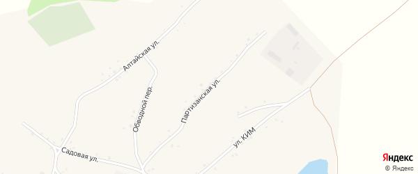 Партизанская улица на карте села Белово с номерами домов