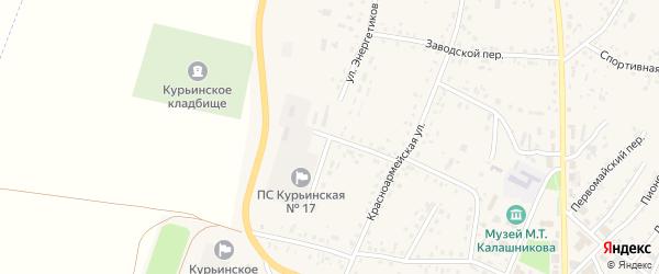 Улица Энергетиков на карте села Курьи с номерами домов