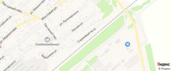Сиреневый проезд на карте села Шипуново с номерами домов