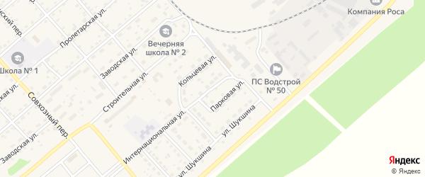 Парковая улица на карте села Шипуново с номерами домов