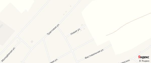 Новая улица на карте села Калмыцкие Мысы с номерами домов