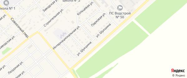 Улица Шукшина на карте села Шипуново с номерами домов