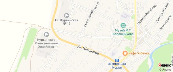 Коммунистический переулок на карте села Курьи с номерами домов