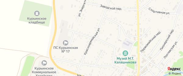 Переулок Суханова на карте села Курьи с номерами домов