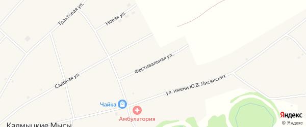 Фестивальная улица на карте села Калмыцкие Мысы с номерами домов
