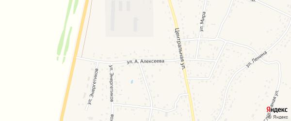 Улица им А.Алексеева на карте села Курьи с номерами домов